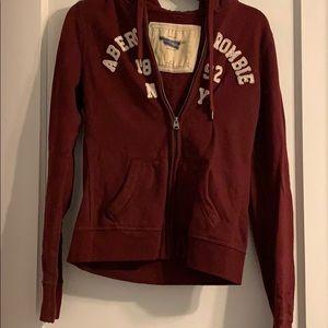 Abercrombie zip up sweatshirt